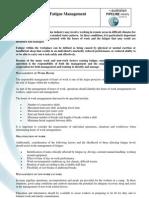 Fatigue Management Guidelines
