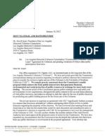 Coliseum Lawsuit Letter