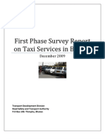 Taxi Service Report