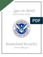 #HomelandSecurity Budget as of 2010