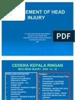 Management of Head Injury 2007 Atls