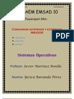 Comandos Internos y Externos MS-DOS ( Concepto, Funcion y Listado)