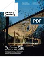 "American Builders Quarterly-- ""Built to Site"""