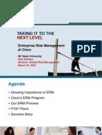 Cisco - ERM at Cisco Presentation