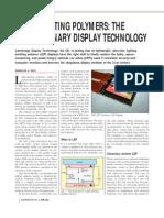 Light-emitting Polymers the Revolutionary Display Technology