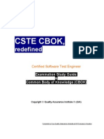 Cste Cbok Redefined