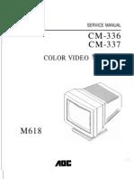 AOC Color Monitor CM-336,337 Parts & Service