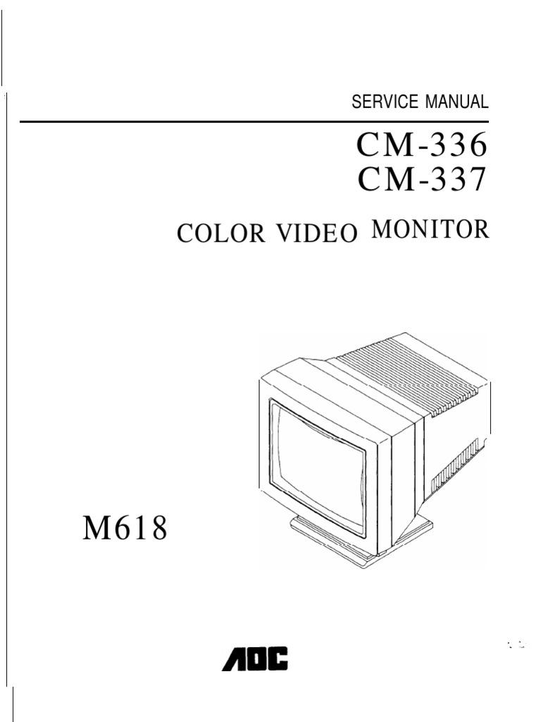 Aoc Color Monitor Cm 336337 Parts Service Vacuum Tube High Lm8560 Circuit Schematic Voltage
