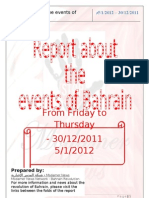 Report about the events of Bahrain 30-12-2011 – 5-1-2012