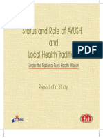 Status and Role of AYUSH and Local Health Traditions