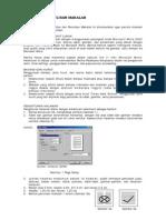 Format Penulisan Makalah