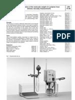 Polymer MW Determination
