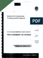 ICTAD Procurement of Work ICTAD SBD 01-2007