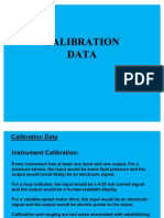 Instrument Calibration DATA