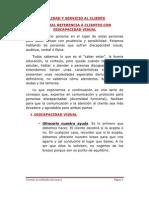 Atención al cliente con discapacidad visual (2AT3)