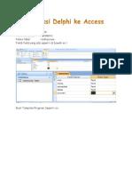 Koneksikan Delphi Ke Access