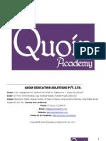 Quoin_MBA CET_2006