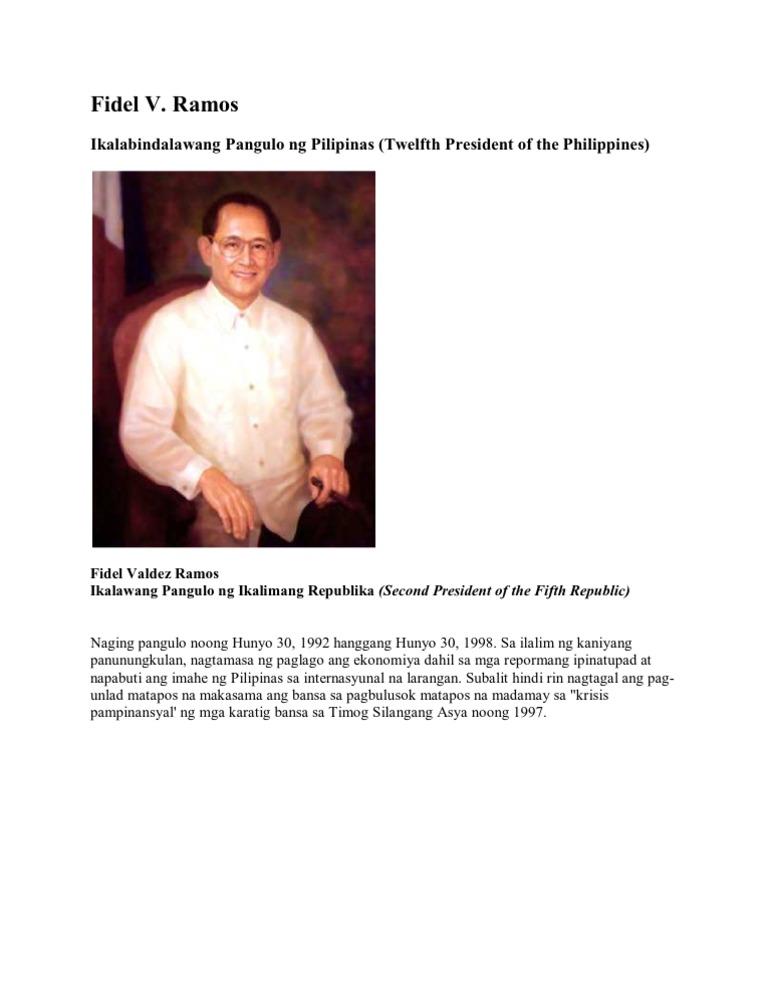Mga naging pangulo ng pilipinas