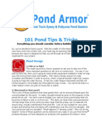 101 Pond Tips and Tricks (Pond Armor)