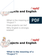 Projects and English
