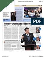 Avvenire - Romney trionfa