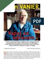 Vapaj za odnosom (Jean Vanier, utemeljitelj Arke - intervju u Svjetlu riječi)
