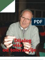 Dijalog više od tolerancije (Dennis Gira, teolog - intervju u Svjetlu riječi)