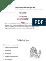 Data Processing Inside PostgreSQL