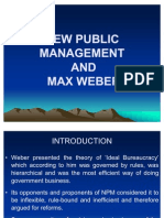 New Public Management and Max Weber