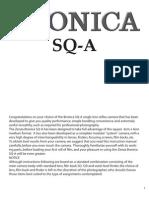 Bronica SQ-A - Manual