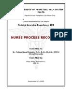 Nursing Process Recording
