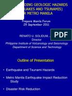 Solidum Earthquake and Tsunami Preparedness 29Sep2011