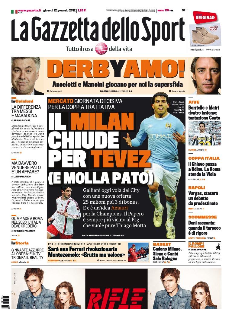 Gazzetta dello Sport - 12 01 2012 777c3ba85ad1