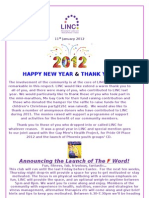 Launch of the 'F Word' in LINC - This Weeks Newsletter