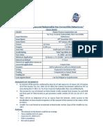 PFC Tax Free Bonds- Term Sheet