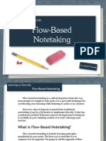 Flow Based Note Taking
