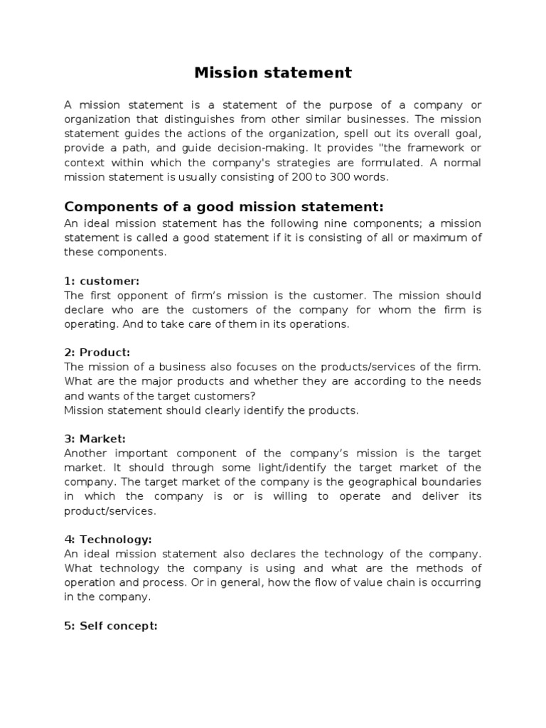 mission statement components and practicl examples business mission statement components and practicl examples business employment