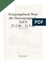 Kriegstagebuch West H.Gr.A, Teil II, 21.2.40 - 31.5.40