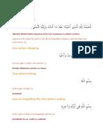 Daily Duas PDF