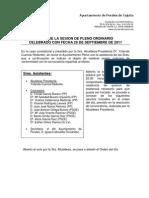 Acta Pleno Ordinario 29.09