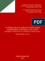 28126263 O Problema Da Subjetivacao Numa Abordagem Historico Cultural Delari Jr