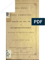 India Hindu and India Christian, Or, What Hinduism Has Done for India, And, What Christianity Would Do for It (1900)