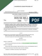 HB 344 Gas and Hazardous Liquids Pipelines Act