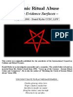 SATANIC Ritual Abuse – mounting evidence