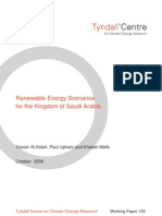 Renewable Energy Scenarios for the Kingdom of Saudi Arabia
