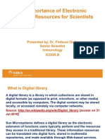 Importance of Digital Libraries in Progr