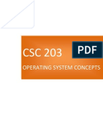 CSC203 - Operating System Concepts