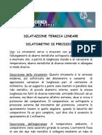dilatazione termica lineare dilatometro di precisione