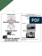 Dama Toyota Supra Folleto Re Piola!!!!!!!!!!!!!!!!!!!!!!!!!