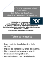 Divorcio en España y pobreza infantil